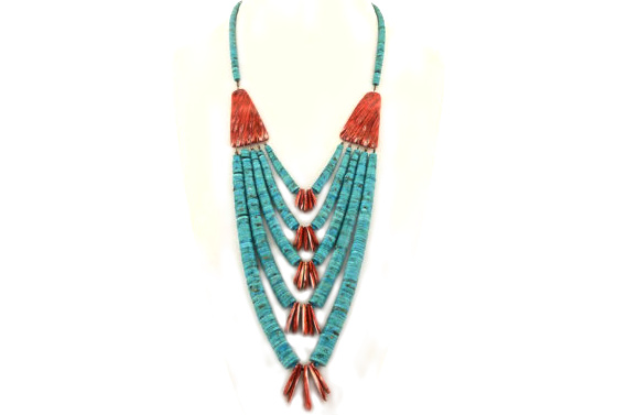 santo-domingo-beaded-heishi-necklace
